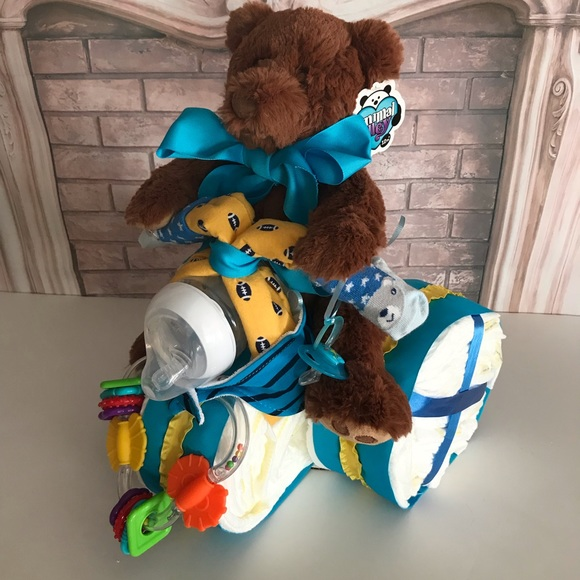 Huggies Other - Motorcycle Diaper Cake.